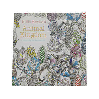 24 Pages English Animal Kingdom Graffiti Coloring Book Adult Children Drawing Sketch Coloring Book School Office Stationery - DISCOUNT ITEM  25% OFF Office & School Supplies