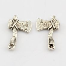 Hot Sale !  10pcs Antique silver Zinc Alloy The ax Charm Pendants 13 x22mm DIY Jewelry nm356