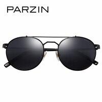 Parzin бренд Ретро Круглый детей Солнцезащитные очки для женщин высокое качество натуральной поляризованные линзы Очки для От 8 до 14 лет Топ Кл...
