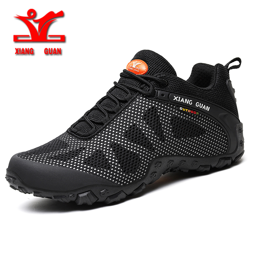 XIANGGUAN new hiking shoes men outdoor runnig sports shoes for men breathable mesh unisex shoes slip resistant wear couple shoes 2016 new couple hiking shoes breathable non slip outdoor sports shoes large size climbing shoes for men and women