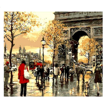 Picture Triumphal Arch DIY Painting By Numbers Acrylic Paint Unique Gift Canvas For Home Decor Wall Arts