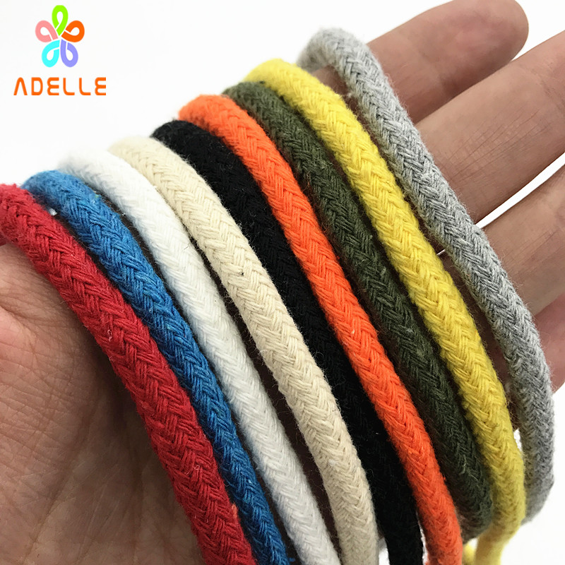 Color Heavy Duty Cotton Rope With Core Braid String