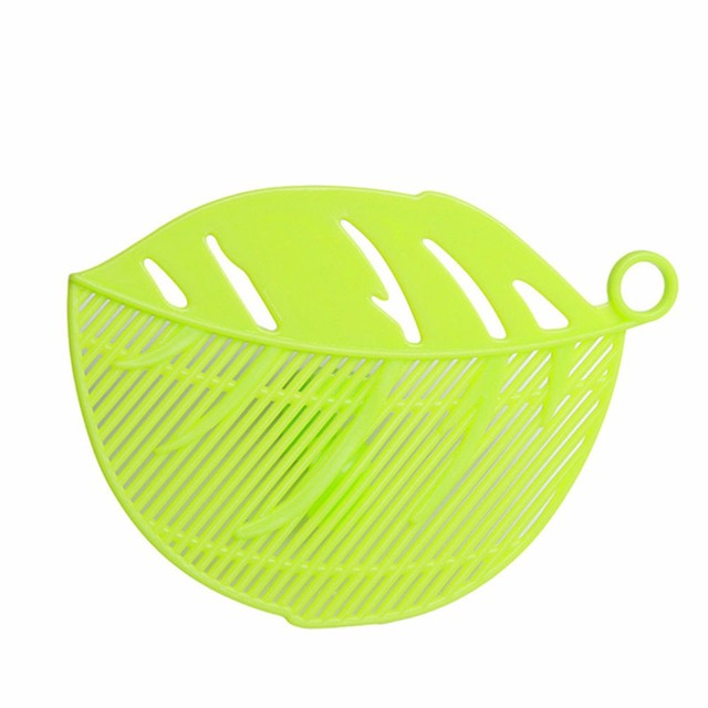 LIMITOOLS 1PC Leaf Shape Durable Clean Rice Wash Sieve Beans Peas Cleaning Gadget Kitchen Clips Fruit & Vegetable Tool Free Ship