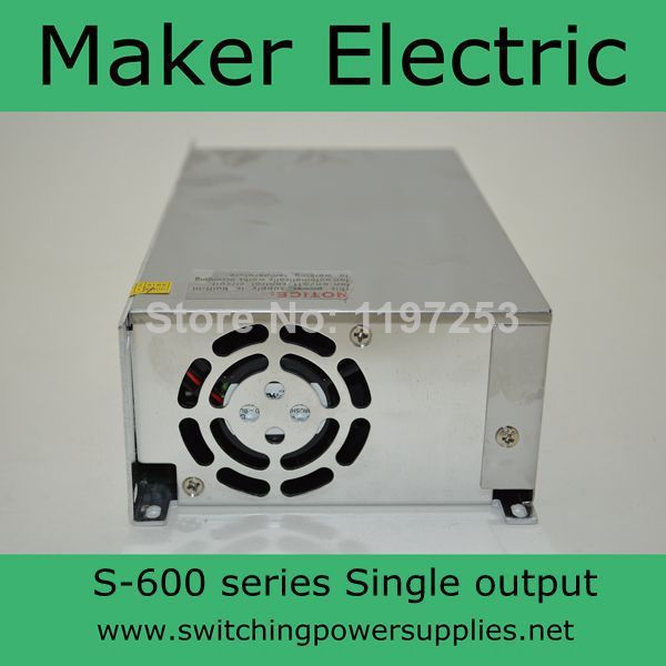 ФОТО High efficiency S-600-48 48v 12A 600W Single Output Switching power supply