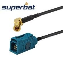 Superbat автомобильный DAB+ спутниковый радио косичка кабель Fakra Z нейтральное кодирование Женский Разъем для SMB штекер мужской правый угол RG174 15 см