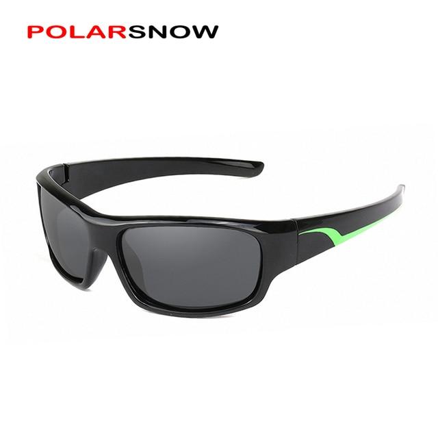 POLARSNOW Crianças Óculos De Sol 2017 Polarized Marca Designer Óculos de Sol  Das Crianças Óculos 100 6056da7733