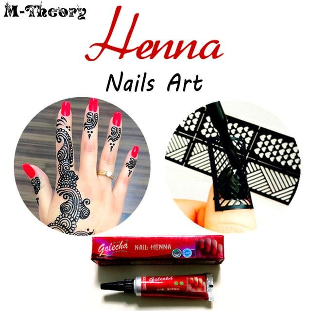Wanita Fashion Mehndi Henna Kuku Kerucut Indian Sementara Nail Art