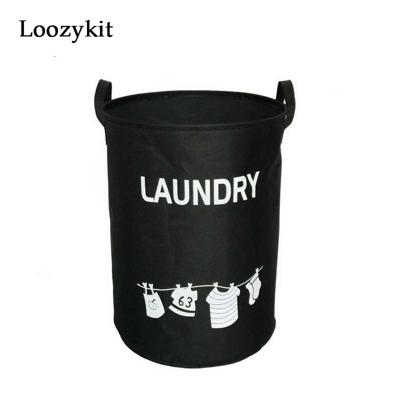 Loozykit Waterproof Oxford Clothing Laundry Baskets Washing Hotel Home Laundry Basket Storage Containers Kids Toys Organizer New(China)