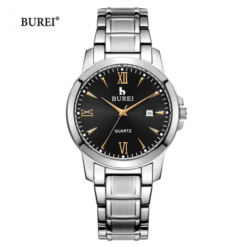 BUREI Men Watch Man Military Quartz Wrist Mens Watches Top Brand Luxury Army Watch Business Clock Hours 2017 New erkek kol saati плиткорез электрический купить в томске