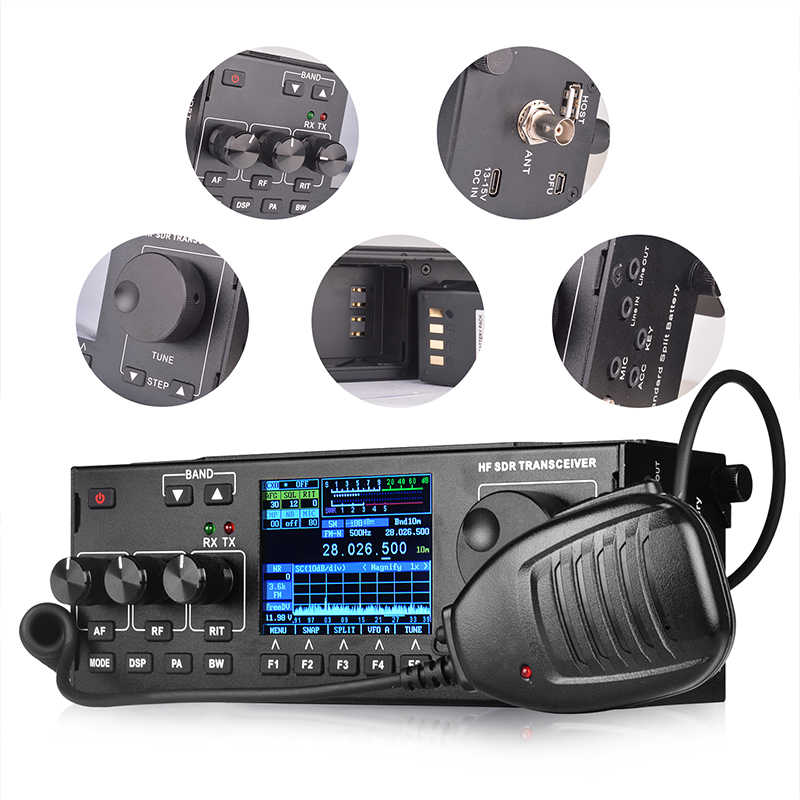 RS-978 SSB hf SDR radio HF ham Transceiver 1 8-30MHz 10Watt ham sdr radio  hf with 3800mAh Li-ion Battery Pack