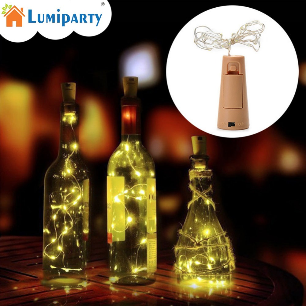 LumiParty Creative Bottle String Lights LED Light 2M 20LED String Lights for Wedding Party Festival Decoration Holiday Lighting