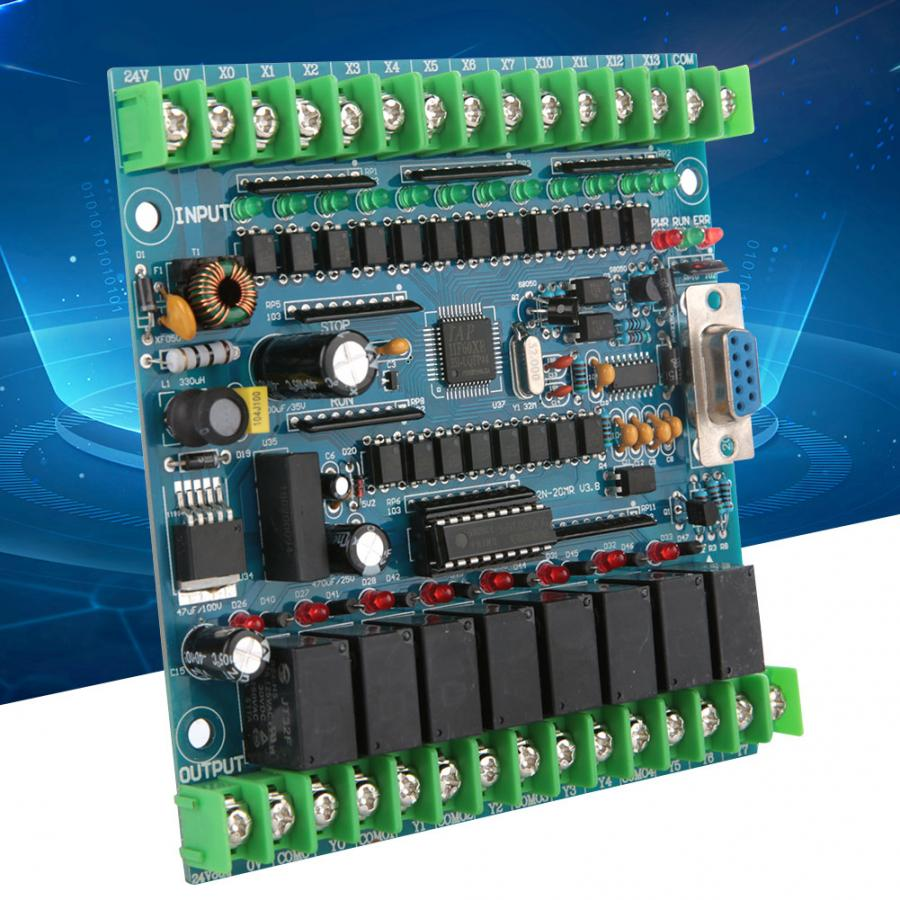 Programmable Logic Controller FX2N-20MR PLC Industrial Control Board 12 Input 8 Output 24V 5A