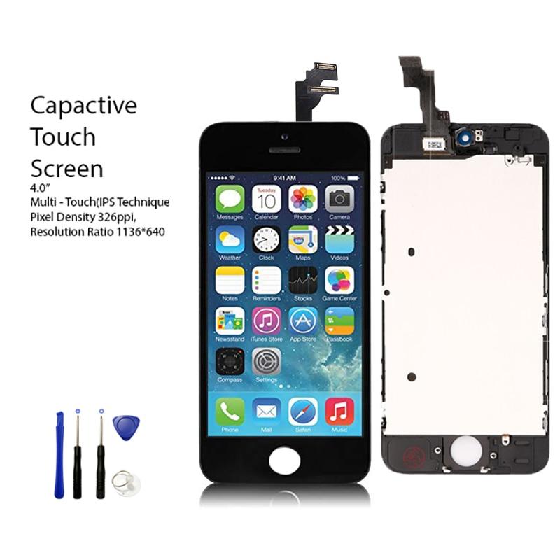 Ovsnovo LCD Pantalla para iPhone 4S 5 5S SE 8 Pantalla LCD Pantalla táctil digitizador piezas de repuesto de montaje regalo negro Blanco