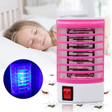 1 PC Electric Mosquito Killer Mosquito Lamp LED Sensor Fly Bug Insect Trap Killer Zapper Night Lamp Lights Killing Insect EU(China)