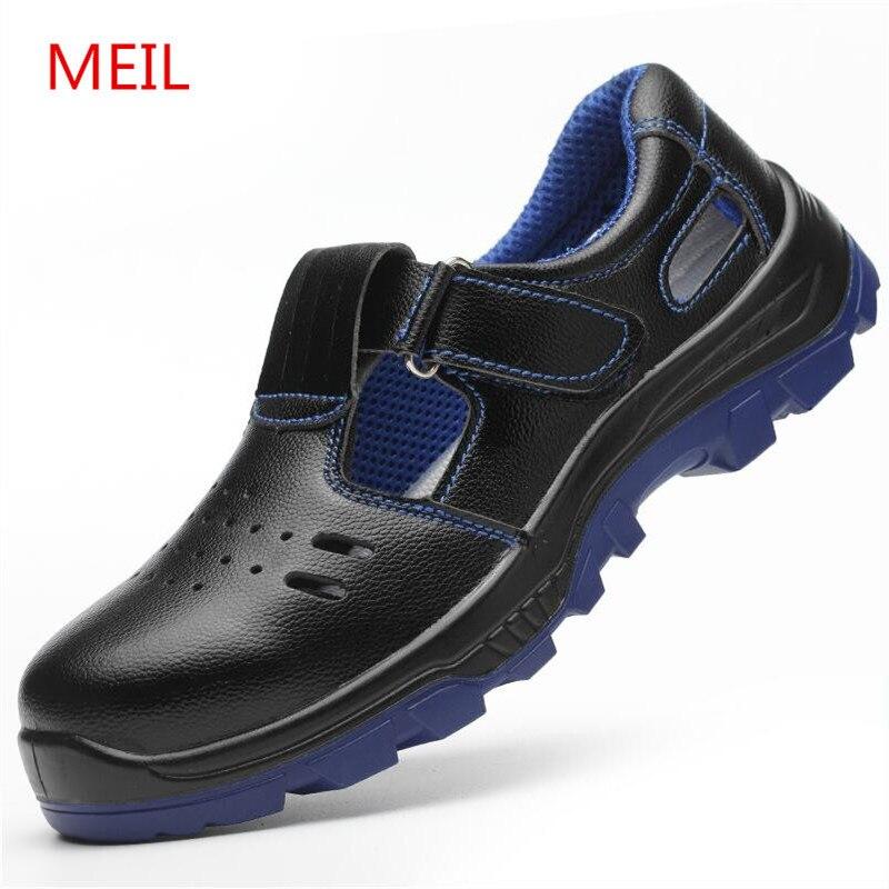 Ayakk.'ten Çalışma ve Güvenlik Botları'de Erkek Iş Güvenliği Ayakkabıları Çelik Ayak Çalışma deri ayakkabı Erkekler Nefes Anti Ponksiyon Emniyet Botları gündelik ayakkabı Ayakkabı Erkekler için'da  Grup 1