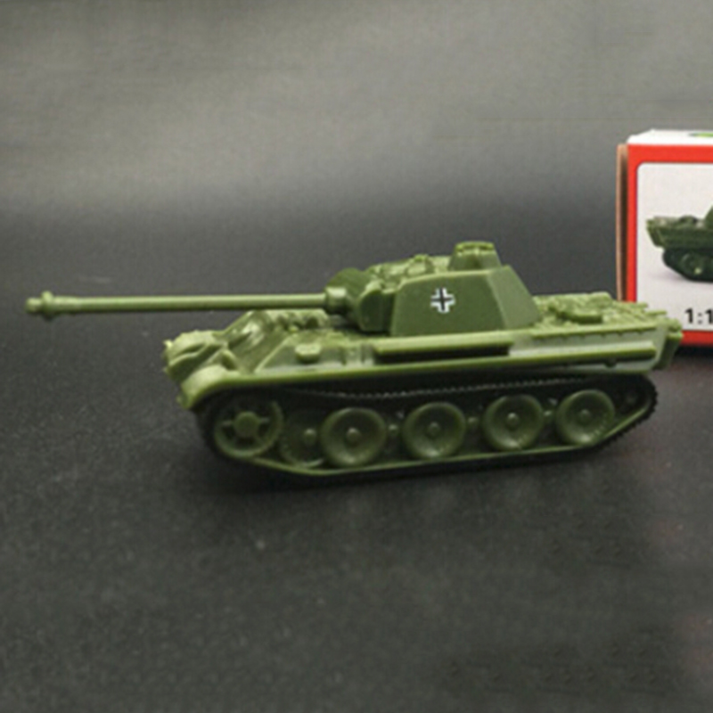 16 Pieces Classic Heavy Tank Plastic Model 1:144 Scale 360 Rotatable Fort
