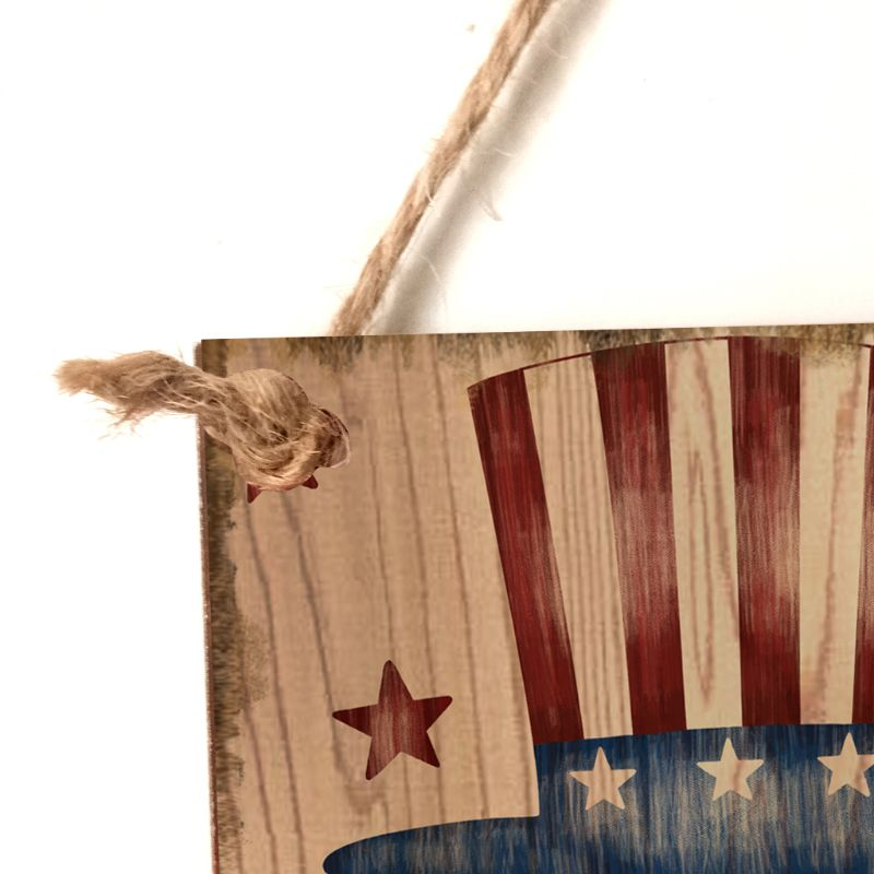 Image 4 - Vintage Wooden Hanging Plaque Faith Family Friends Freedom Sign Board Wall Door Home Decor Independence Day Party Gift-in Plaques & Signs from Home & Garden