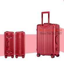 29 INCH 20242629# Pure fashion wear waterproof universal wheel aluminum box checked luggage suitcase #EC FREE SHIPPING