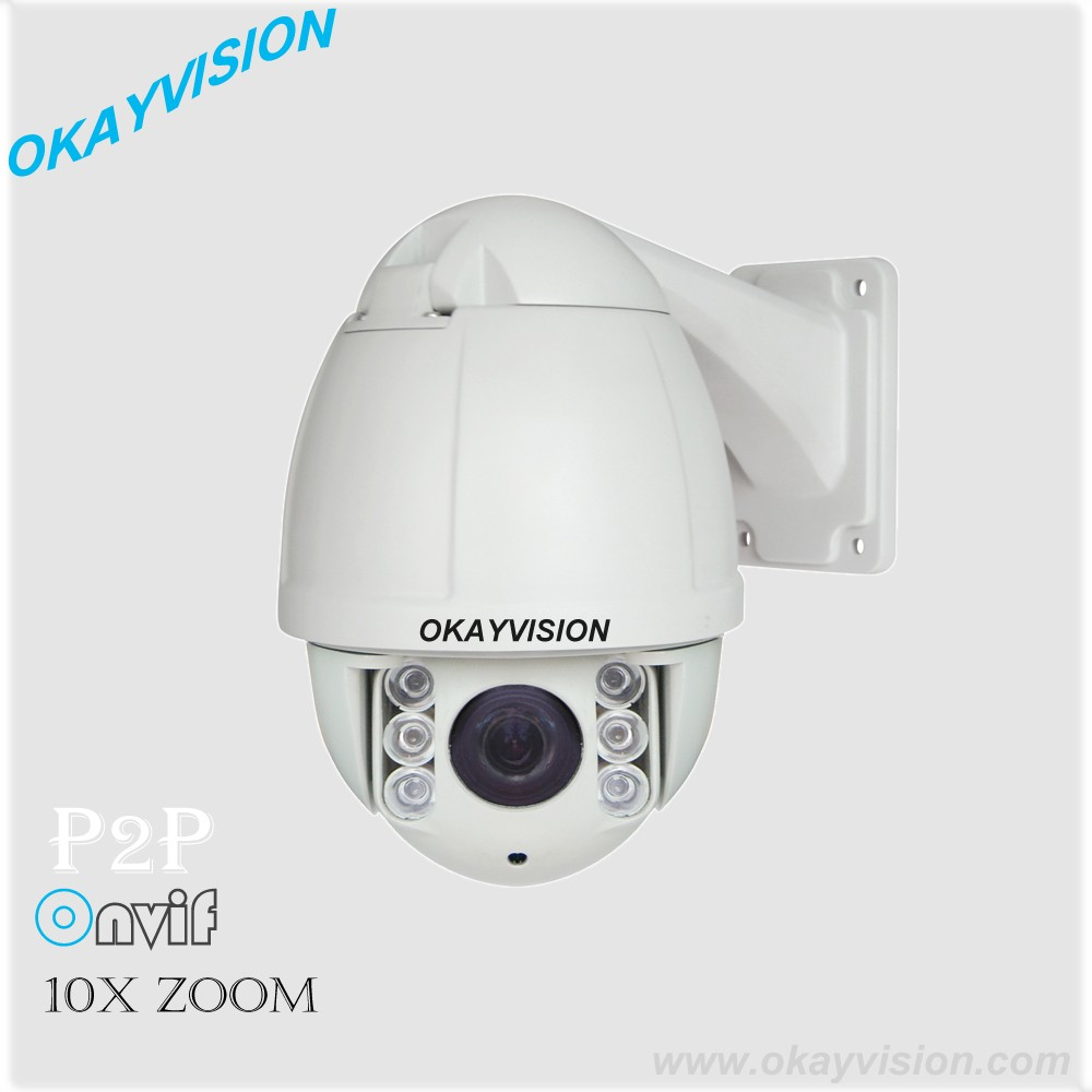 4.5' Mini HD-IP High Speed Dome Camera 1080p infrared IR Speed Dome outdoor p2p 10X optical ZOOM cctv IP PTZ security Cameras onvif hd 2 0mp 20x optical zoom 100m ir distance 1080p ptz cctv wired camera speed dome camera with auto wiper