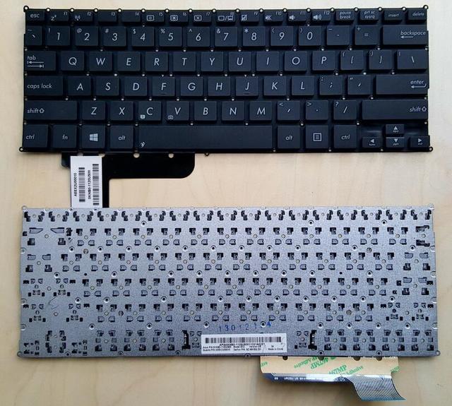 Nuevo teclado ee.uu. inglés para asus x200 x201 x201e x200ca q200 q200e s200e x202e s200 teclado del ordenador portátil negro sin marco