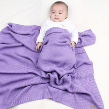 Cotton Crochet Baby Blankets Knitted Newborn Swaddle Wrap Toddler Sofa Crib Bedding Quilt 100*80CM