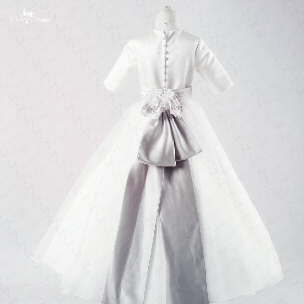 Fg44 o neckline silver belt bow ribbon white long sleeve flower girl fg44 o neckline silver belt bow ribbon white long sleeve flower girl dresses in flower girl dresses from weddings events on aliexpress alibaba group mightylinksfo