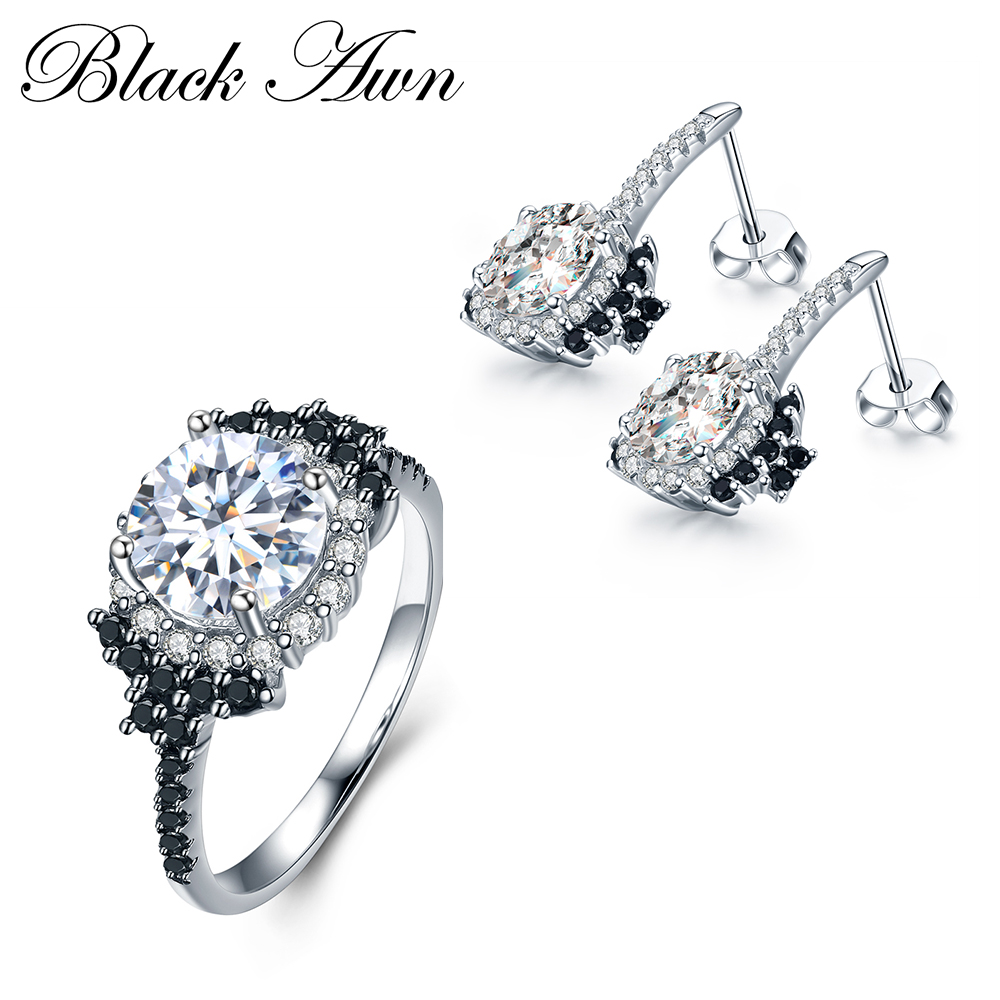 [BLACK AWN] 925 Sterling Silver Fine Jewelry Sets