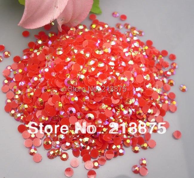 En gros grande quantité 10000 pièces couleur magique rouge AB gelée 6mm résine strass téléphone portable bâton perceuse SS30