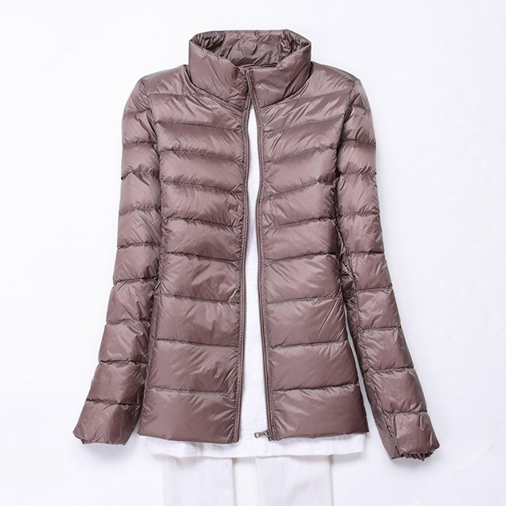 Winter Women Ultra Light Down Jacket 90% Duck Down Jackets Coat Long Sleeve Warm Slim Coat Parka Female Solid Portabl Outwear