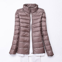 Winter Women Ultra Light Down Jacket 90% Duck Down Jackets Coat Long Sleeve Warm Slim Coat Parka Female Solid Portabl Outwear