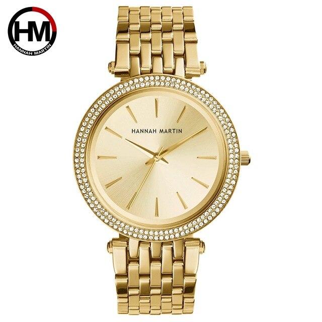 Kadın Rhinestones Saatler Top Marka Lüks Gül Altın Elmas Iş Moda Kuvars Su Geçirmez Saatı Relogio Feminino