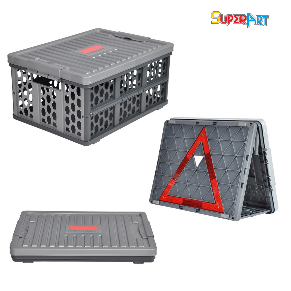 Plastic Storage Box Foldable Car Back Seat Organizer Multifunction Boxes Container font b Stowing b font
