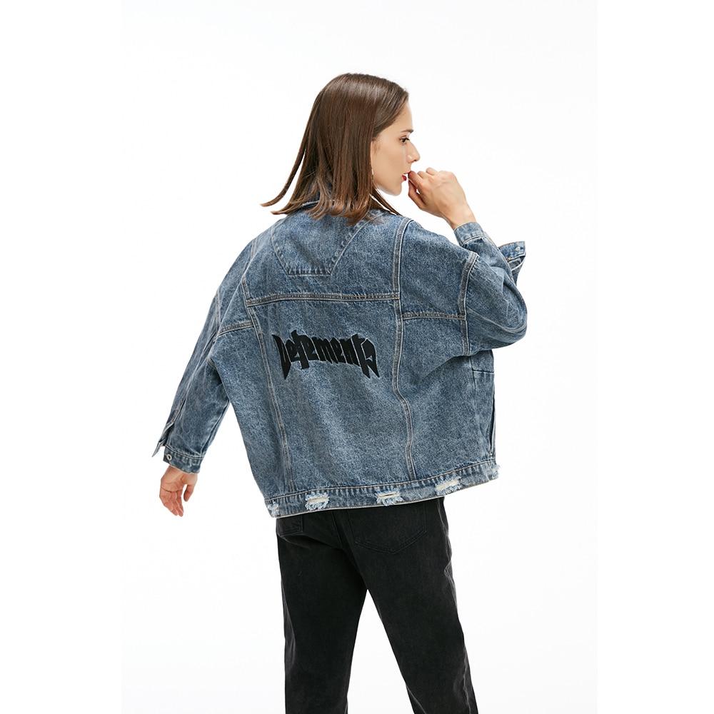 Femelle Automne Femmes Manteaux Vestes Denim Bleu Mode De Porté En Printemps Dames Lâche Imprimé Aecker qPfRwtdt