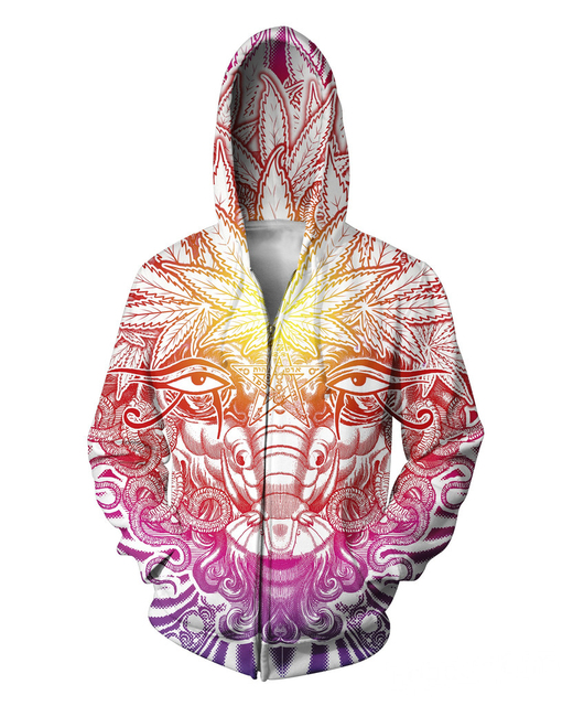 Weed Goat Zip-Up Hoodie psychedelic Zipper 3d Sweatshirt Women Men Coats  Casual Fashion Clothing Sweat Outfits Hooded Tops 36541a7bde