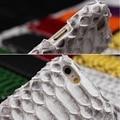 Luxo natural da pele de cobra python 3d capa case para iphone 7 6 6 S Verdadeiro e Genuíno Couro De Telefone Celular Casos Shell Capa Dura embalagem