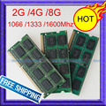 Ddr3 1066 мГц / 1333 мГц / 1600 мГц 2 ГБ / 4 ГБ / 8 ГБ SODIMM 204-Pin памяти DDR3 портативный ноутбук PC3 2 г 4 г 8 г 512ram полностью протестированы