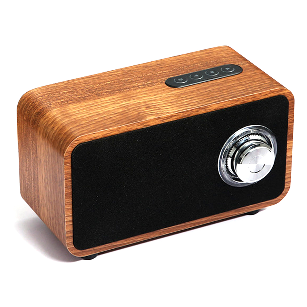 Wireless Bluetooth Speaker Wood Portable Audio HiFi Stereo Music Subwoofer Computer Speakers with Mic TF Card MP3 Player lesoi f1 portable wireless bluetooth speaker support tf card