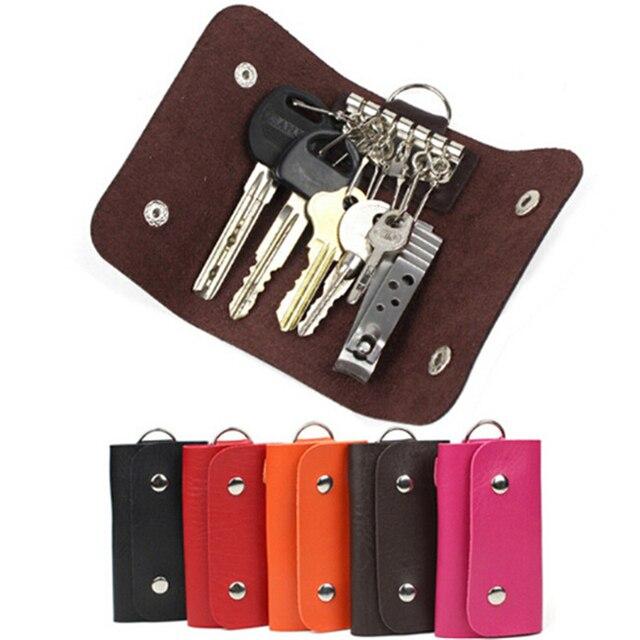 Для мужчин из искусственной кожи ключа автомобиля кошелек на брелоке ключница для ключей держатель Организатор сумки менеджер подставка из искусственной кожи автомобильный брелок ключевой бумажник