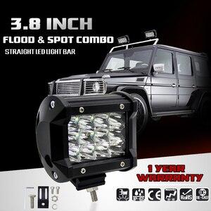 Image 3 - 2Pcs Conduziu a Luz do Bar 4x4 36W 6000K Barra Luzes Dias Carro Offroad Levou Luz de Trabalho para Ford Jeep Motocicleta ATV UTV SUV Truck Boat