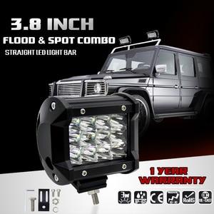 Image 3 - 2Pcs Led Light Bar 4x4 36W 6000K Day Lights Offroad Car Barra Led Work Light For Ford Jeep Motorcycle ATV UTV SUV Truck Boat
