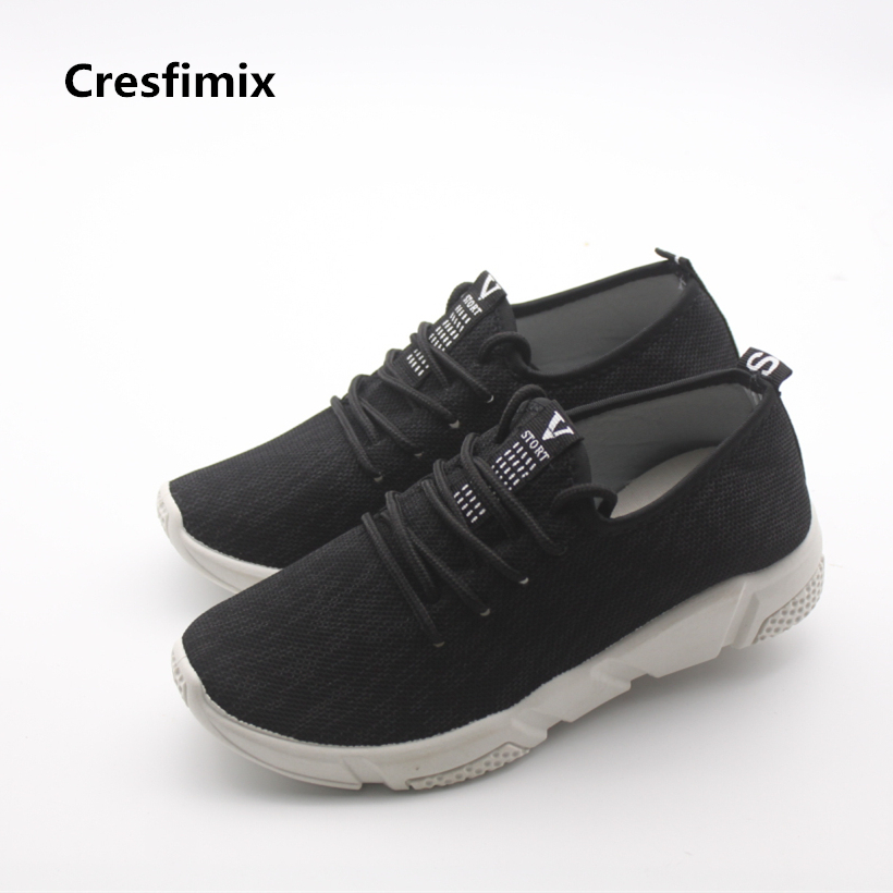Cresfimix women fashion breathable height increased shoes lady casual black lace up shoes female cool comfortable shoes sapatos women casual shoes 2018 summer cool breathable handmade female woven footwear fashion comfortable lightweight wovening sneakers