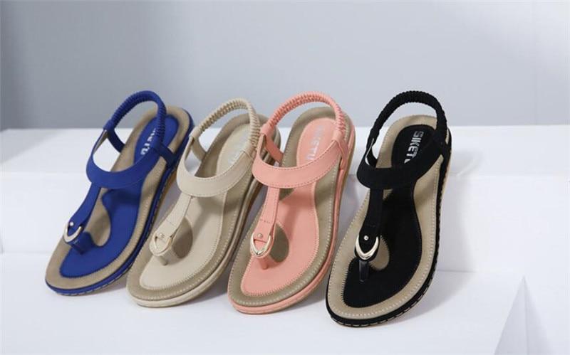 HTB1YoScD3mTBuNjy1Xbq6yMrVXah Summer Shoes Women Bohemia Ethnic Flip Flops Soft Flat Sandals Woman Casual Comfortable Plus Size Wedge Sandals 35-45
