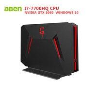 Bben GB01 Desktop Computer Windows 10 Intel I7 7700HQ CPU GDDR5 6GB NVIDIA GEFORCE GTX1060 16G