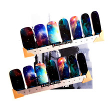 30 style Nail Wraps Stickers, Marvelous Space Universe Designs, Waterproof Nail Arts Polish Gel Foils Keep 2-3 weeks