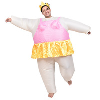 Newest Inflatable Ballet Mascot Costume Halloween Party Funny Fat Man Fancy Animal For Adults With Dinosaur