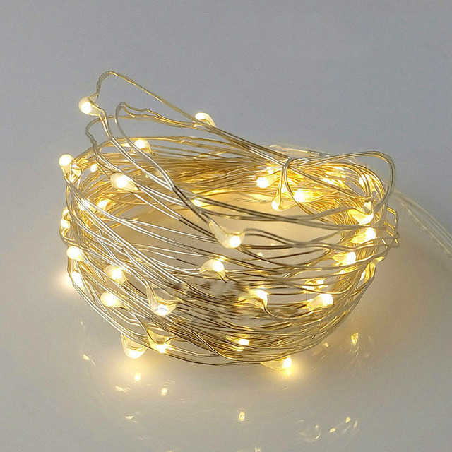 2M 20 Leds Festival Lights String Led Copper Wire Fairy Lights For Christmas Wedding Party Birthday Decoration Home Table Decor