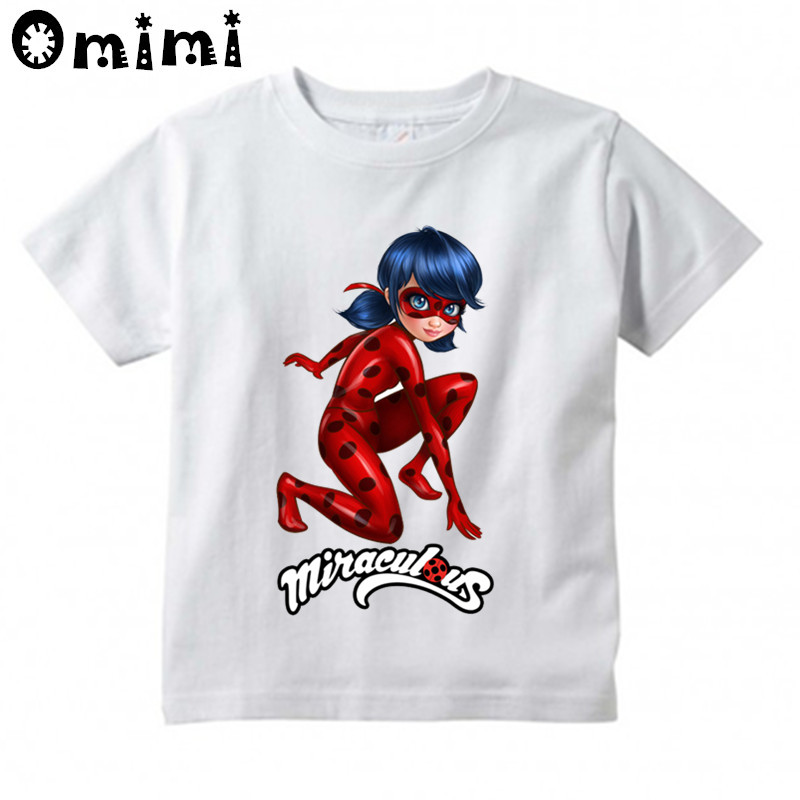 Miraculous Ladybug Cartoon Printed Children Casual T Shirt Boys and Girls Funny Tops Great T-Shirt lerro definition funny italian family name unisex t shirt