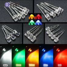 50PCS 10mm Round White/Yellow/Red/Green/Blue Clear F10 LED Diodes Light Bulb colourful creative led light bulb keychain green white