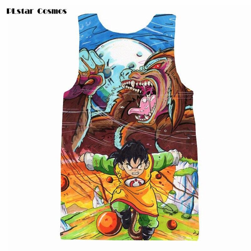 Art Style Gohan and Dragon Prints tshirts vest Men Women Summer Sleeveless t shirts Anime Dragon Ball Z 3D t shirt Tank Tops