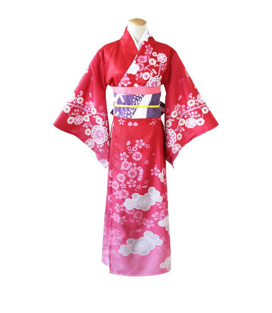 74036235ea4c4 Adult Women Anime Kimono Ladies Japan Traditional Exotic Sweet Gown Dress  Fancy Cosplay Party Outfit For Girls XL Plus Size